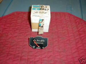 NOS MOPAR 1963-4 DODGE DART TEMP GAUGE 170 270 DART GT