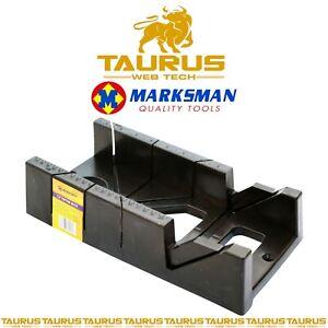 "12"" MARKSMAN Mitre Block MAXI Angle Cutting Miter Saw Box CARPENTER Hand Tool UK"