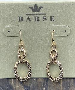 Barse Brockton Loop Earrings-Bronze- NWT