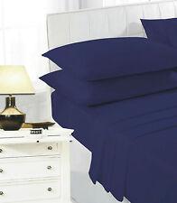 "Sunshine Comforts tinti di Lusso Percalle foglio-Navy-Matrimoniale 54"" x 76"""