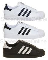 Men's Adidas Originals Superstar 2 Classic Retro Trainers White Black Navy
