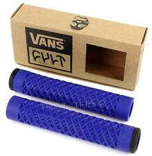 Cult X Vans Flangeless BMX Bike / Scooter Grips w/ End Plugs Waffle Pattern BLUE