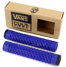 Cult X Vans Flangeless BMX Bike / Scooter Grips w/ End Plugs Waffle Pattern BLUE