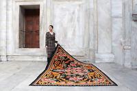 "Handmade Vintage Decorative Ethnic Caucasian Moldovan Kilim Area Rug 9'4""x6'4"""