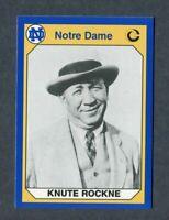 NOTRE DAME FOOTBALL #70 KNUTE ROCKNE HEAD COACH 1990 COLLEGIATE COLLECTION CARD