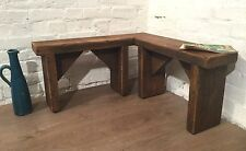 CHUNKY Hand Made Solid Rustic Vintage Reclaimed Pine Plank Seating CORNER BENCH