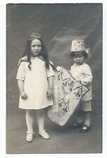 BM831 Carte Photo vintage card RPPC Enfant jeune fille déguisement