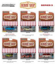 THE HOBBY SHOP SERIES 3 SET OF 6 CARS 1/64 DIECAST MODELS BY GREENLIGHT 97030