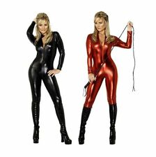 Metallic Lycra Spandex Catsuit Zentai headless/no hand front zip costume
