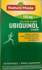 Nature Made 100mg Active Form UBIQUINOL CoQ10 heart health 30 softgels 09/2021