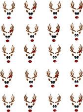 Boy & Girl  Reindeer Heads (Christmas) Waterslide Nail Decals/Nail Art