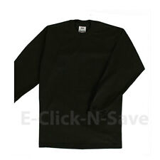 1 NEW PROCLUB MEN'S HEAVYWEIGHT LONG SLEEVE CREW NECK TEE ANY COLOR S - 5XL-TALL