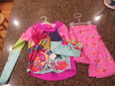 Dream Works Trolls Girls Pajama 2-Piece Set Button Up Large 10 12 NEW NWT pink