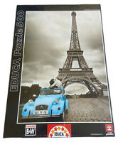 Educa Paris EIFFEL TOWER 500 pc Colored B&W Jigsaw Puzzle NEW SEALED BOX 14845