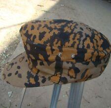 WWII WW2 GERMAN ELITE OAKLEAF M40 CAMO REVERSIBLE FIELD CAP HAT SIZE L