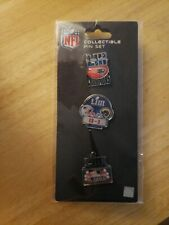 New England Patriots Superbowl 53 Collectible Pin Set. Set Of 3 Pins, New In pkg