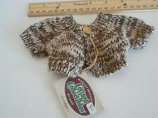 Ganz Teddy Bear Button Sweater-New Old Stock- Brown Flecked-Small