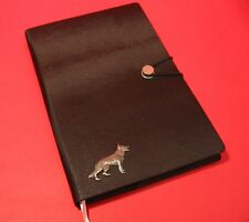 German Shepherd A5 Black Note Book Dog Journal Vet Father Mothers Useful Gift