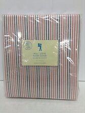 Pottery Barn Kids Multi Stripe Bed Bedroom Duvet Cover TWIN Orange Brown