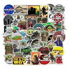 50PCS Baby Yoda Stickers The Mandalorian Decals for Laptop Luggage Cups