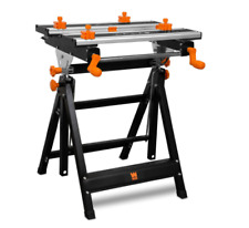 Wen 24-Inch Height Adjustable Collapsible Tilting Steel Portable Work Bench New