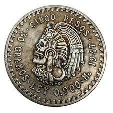 Indian Skull Nickel Zombie Vagrant Metal Commemorative Coin 1921
