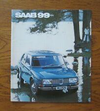 Original Motoring sales brochure, Saab 99. 1970