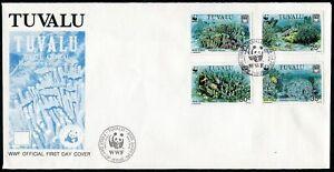 Tuvalu 617-620,FDC.Michel 638-641. WWF 1992.Blue Coral.