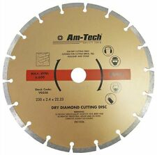 "9"" Diamond Cutting Disc Grinder Cutter Blade Masonary & Hard Brick Stone 230mm"