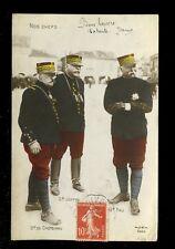 Military WW1 Generals Joffre Castelnau Pau 1915 PPC