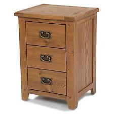 Odessa oak bedroom furniture three drawer bedside cabinet stand unit