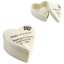 Amore Porcelain Heart Trinket Box Mother Of The Bride