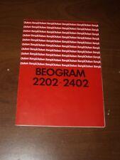 BANG & OLUFSEN - B&O - BEOGRAM 2202 - 2402 Users Manual