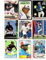 Tim Raines lot of 87 different cards