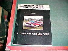 1986 GMC LIGHT TRUCK C/K , P, G-VAN Series TRUCK WIRING DIAGRAMS SET