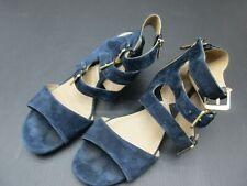 ADRIENNE VITTADINI SIZE 10M WOMENS BLUE SUEDE GLADIATOR STRAP SANDALS 2H