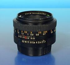 Auto Revuenon mc 1.7/50mm objectif lens lente para Pentax K - (42699)