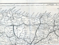 Gijon Santander Bilbao 1865 peq. carta orig (parte sector) León Astorga Miranda
