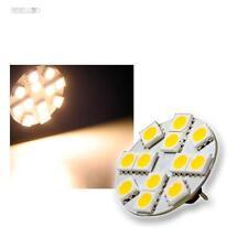 5x Ampoules g4 Avec 12x5050 SMD DEL Blanc Chaud 12 V, DEL Poire Stylet Socle Lampe
