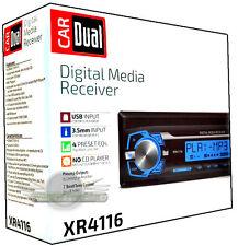 Dual XR4116 In-Dash AM/FM/Digital Media Car Stereo w/USB and Auxiliary Input