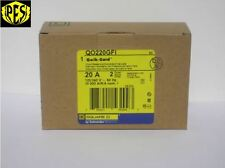 Nib - Square D Qo220Gfi 2 Pole 20 Amp Qo Ground Fault Breaker Gfci Qo Style