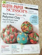 Cloth Paper Scissors Magazine Nov Dec 2017