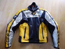 Spitzen-Motorradjacke von Dainese in schwarz-gelb-silber, Herren, Gr. 48 / S