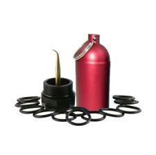 Red Scuba Tank with 12 O-Rings for 80 100 Emergency Save A Dive Kit DIN BCD