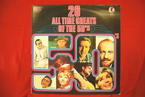 Various Artists - 20 All Time Greats Of The 50's - Vinyl LP K-Tel NE490