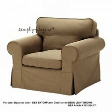 IKEA COVER for Ektorp Chair Ektorp Armchair Slipcover Idemo Light Brown 00182477