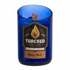 Torched Cherry Merlot Wine Bottle Candle - 12 oz