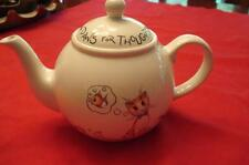Arthur Wood Coffee Tea Pot Lid Porcelain England Paws for Thought