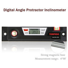 Digital Angle Finder Gauge Bevel Box Protractor Inclinometer Spirit Level Tool