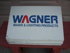 VINTAGE WAGNER Brake & Lighting Products  ADVERTISING PARTS CABINET DISPLAY VGC